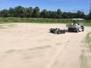 Dragging in sand after solid tine verification
